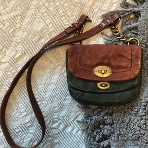 Fossil Leather Mini Crossbody